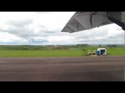 Flight attendant welcome speech on Trip flight from Bauru to Araçatuba