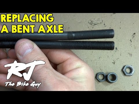 How To Replace A Bent Axle On A Bike Wheel