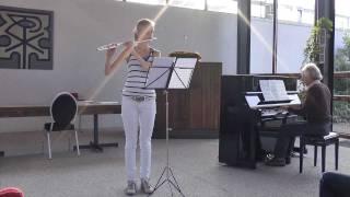 Anne de Vries  Allegro uit Sonate G-mineur (bwv 1020)  -  J. S. Bach