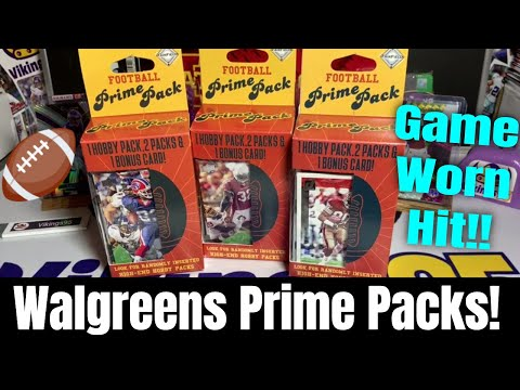 3 Walgreens Prime Football Packs | Game Used Hit?! How Weird Is That Jersey Card?? SO Unique!