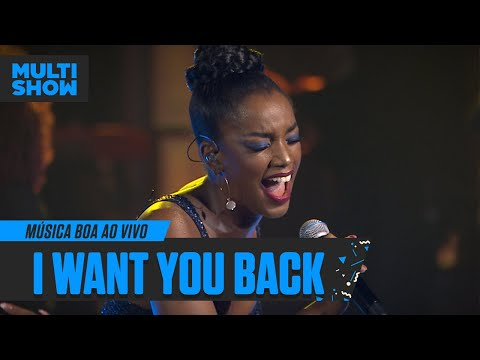 IZA  I Want You Back  Música Boa Ao Vivo  Música Multishow