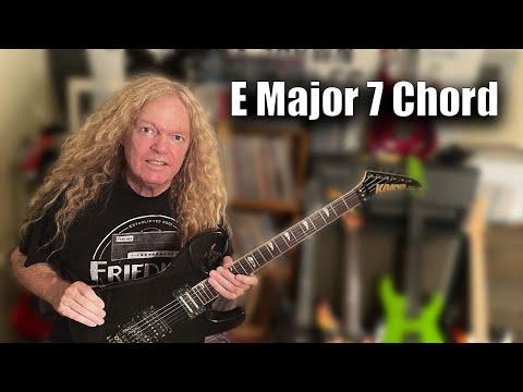 free guitar lessons - e major 7 chord