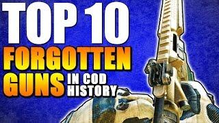 "Top 10 ""FORGOTTEN GUNS"" In COD HISTORY (Top 10 - Top Ten) Call of Duty"