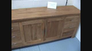 Vienna Large Solid Oak Sideboard And Glass Display Cabinets