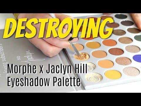 THE MAKEUP BREAKUP - Destroying, weighing & re-pressing the Morphe Jaclyn Hill Eyeshadow Palette