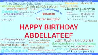 Abdellateef   Languages Idiomas - Happy Birthday