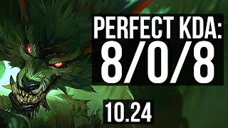 WARWICK vs GRAVES (JUNGLE) | 8/0/8, Rank 5 Warwick, 700+ games, Legendary | EUW Master | v10.24