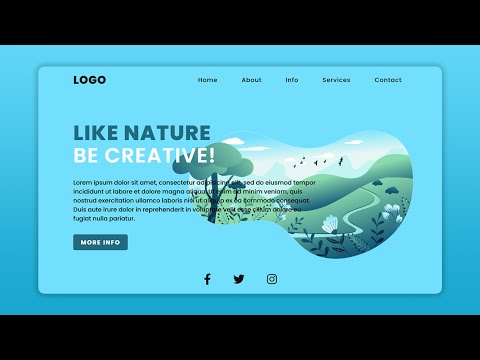 Responsive Website Landing Page Design | Title (Creative Nature) - Only Using CSS & HTML