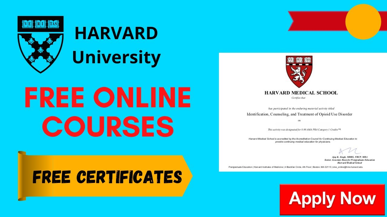 Harvard University Online Courses With
