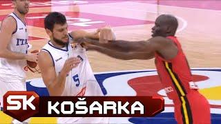 Igrač Angole Glavom Udario Đentilea   SPORT KLUB Košarka