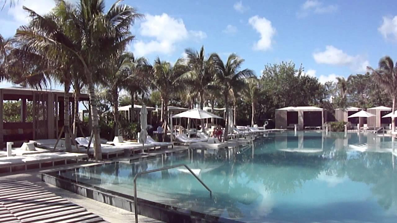 W Hotel, Miami South Beach, Pool View @ Morning - YouTube