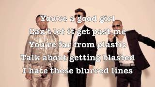 Robin Thicke-Blurred Lines ft  T I , Pharrell (Screen Lyrics Song + Lyrics + MP3 Download)