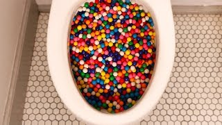 Will 20,000 Gumballs flush?