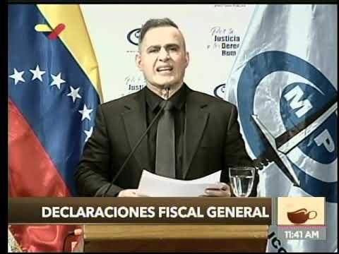 Fiscal General de Venezuela: 18 imputados por participar en Operación Aurora y ataque a 2 cuarteles