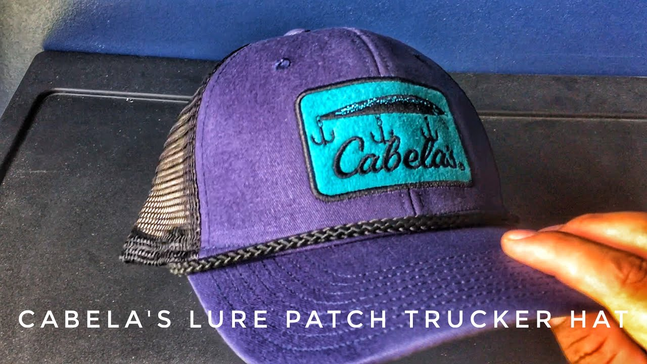 Cabela s Lure Patch Trucker Hat Unboxing 33829e7dc39
