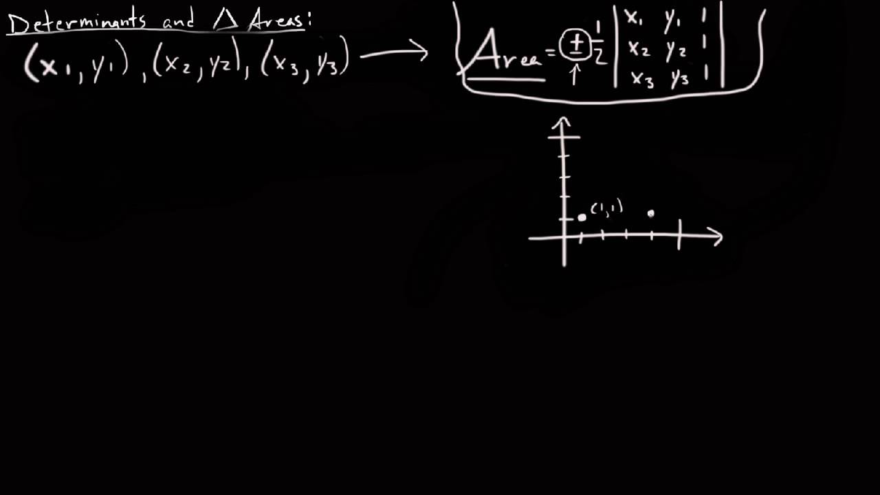Area Of A Triangle Using Determinants