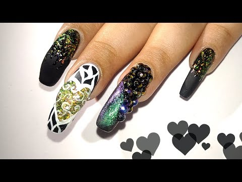 Dark Valentines Day Nail Art Tutorial    Nail Star Aura