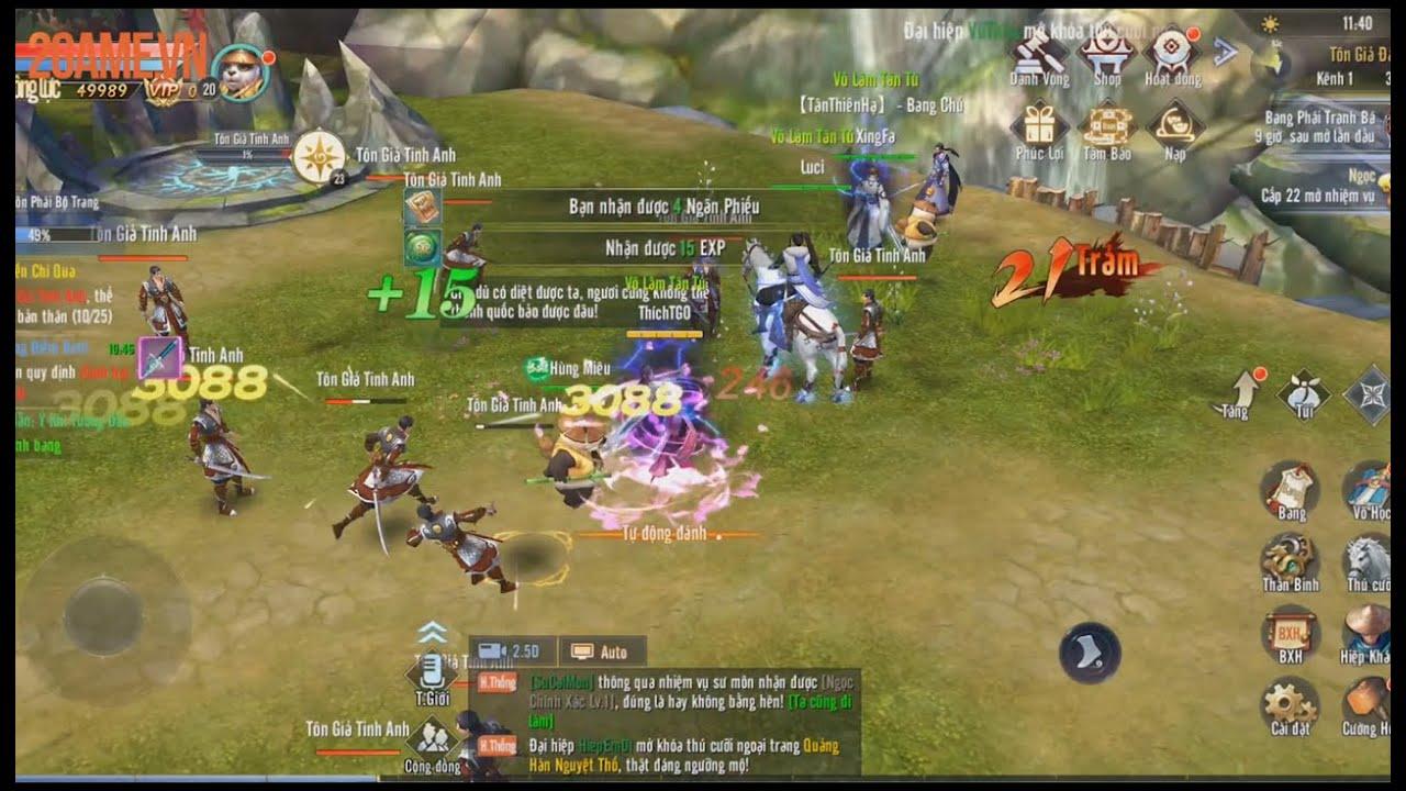 Cảm nhận Thái Cực 3D Mobile: Tựa game nhập vai Kiếm hiệp rất đáng chơi!!!