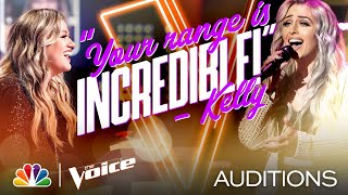 "Kelsie Watts Puts Her Own Spin on Kelly Clarkson's ""I Dare You"" - The Voice Blind Auditions 2020"