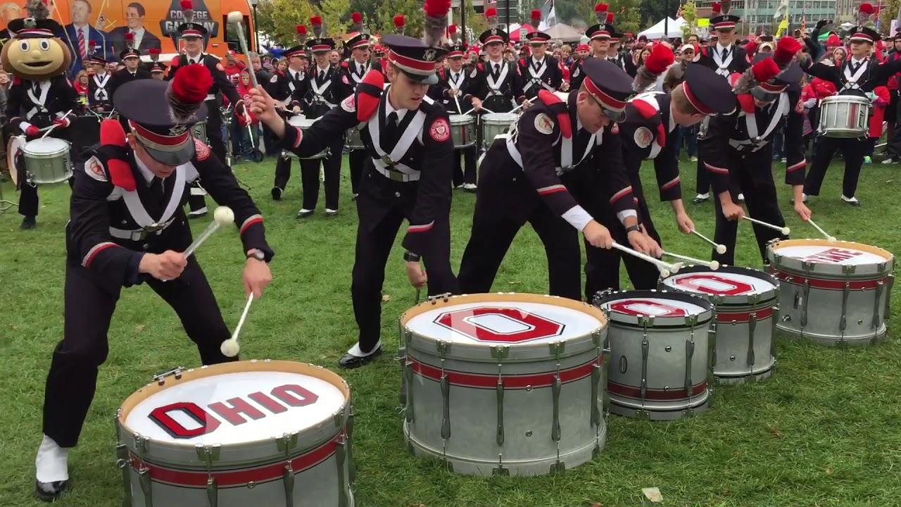 ohio state marching band drumline mashup 10 28 17 tbdbitl youtube. Black Bedroom Furniture Sets. Home Design Ideas