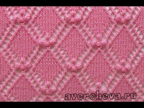 Вязание Спицами - УЗОРЫ РОМБЫ - 2018 / Knitting - patterns rhombus