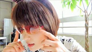 ピンクのレンズのサングラス⇒JILL STUART ☆デカキンDekakinチャンネル⇒h...