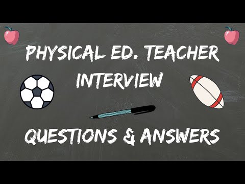 Physical Education Teacher Interview Questions  Answers - YouTube
