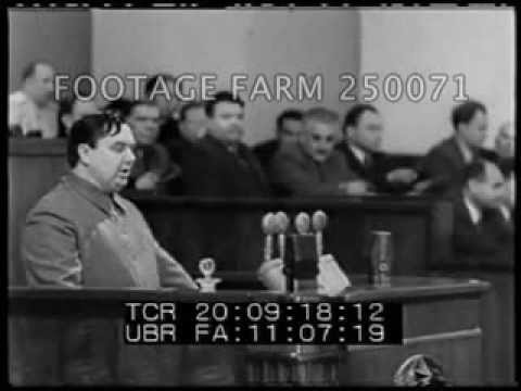 Malenkov Denounces Beria 250071-08 | Footage Farm