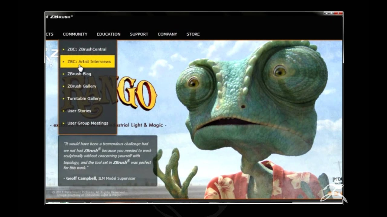 Pixologic ZBrush Feature video - Siggraph 2011