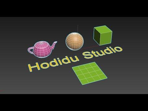 HODIDU STUDIO - TẮT VIỀN MÀU XANH - VÀNG CỦA ĐỐI TƯỢNG 3DSMAX