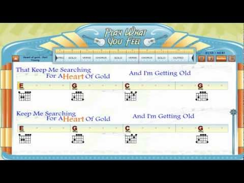 Heart Of Gold Neil Young Guitaraoke Chords Lyrics Guitar