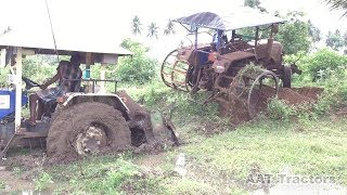 Swaraj 744 Stuck In Mud / Sonalika 50 HP Tractor Rescued Swaraj