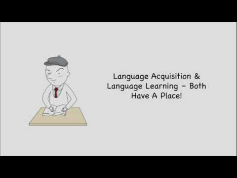 Language Acquisition  vs. Learning - Learn a language faster (Joshesl.com)