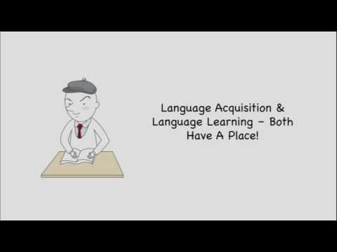 Language Acquisition  Vs. Learning  | Second Language Theory #JoshESL #oystercafe.com