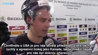 Sebastian Aho po zápase Kanada - Finsko 5:2