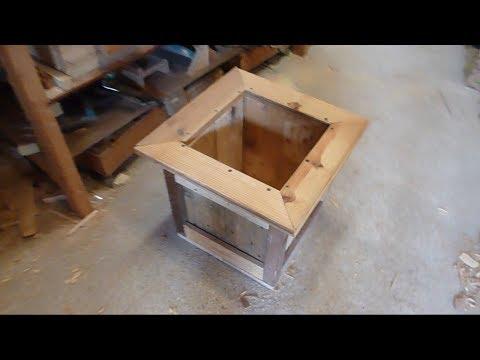 Jardiniere En Bois De Palettes Avec Des Outils A Mains Youtube