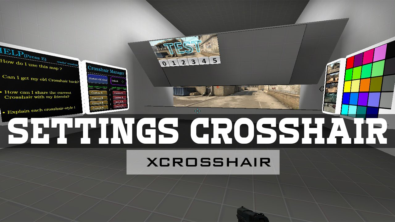 how to get crosshair settings