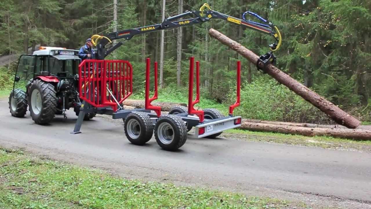 Beliebt Bevorzugt Der neue Holzanhänger von Maschinen Steiner - YouTube @WV_97
