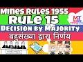 Mines Rules 1955 || rule 15 || mining technical || miningtechnical