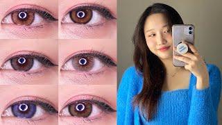 써클렌즈만 ❗️10년낀 ❗️뷰튜버의 렌즈추천 | 자연스…