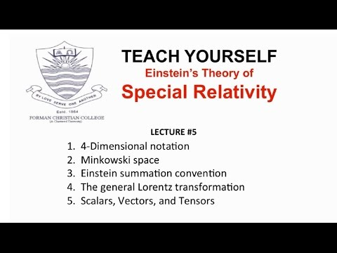 Lecture 5: Scalars, Vectors, and Tensors (Special Relativity - English) | Pervez Hoodbhoy