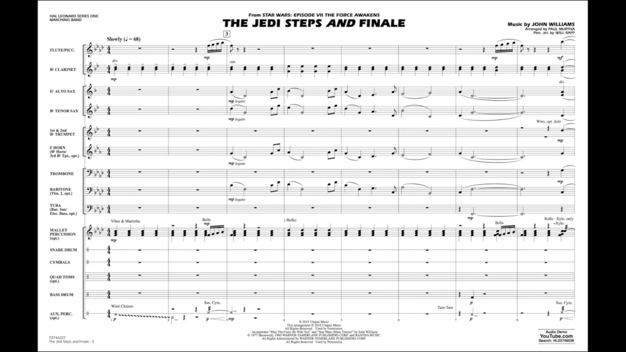 The Jedi Steps AND Finale by John Williams/arr  Paul Murtha