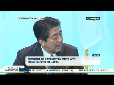 President of Kazakhstan meets with Prime Minister of Japan