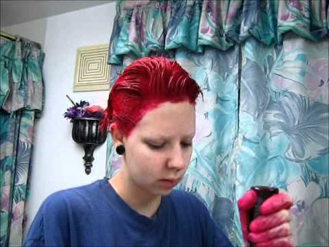 Dying My Hair With Special Effects Devilish Red
