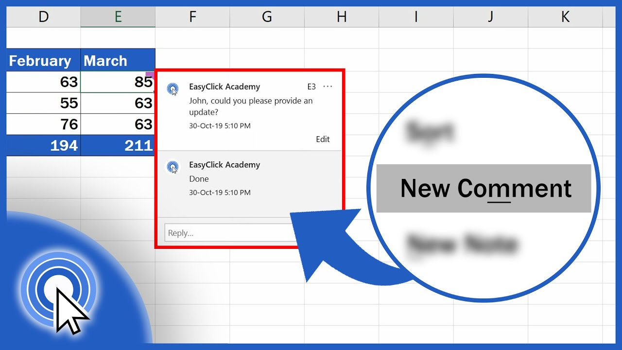 How to Insert Comment and Note in Excel