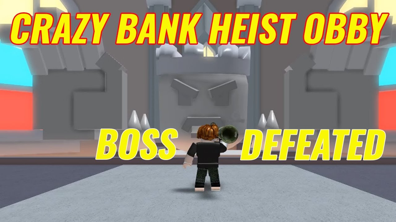 Aj Trying Out Crazy Bank Heist Obby Roblox Youtube