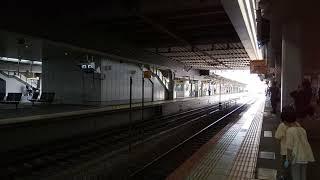 岡山駅2番線 特急やくも15号出雲市行き 381系到着