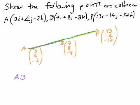 How to Show Points are Collinear - Vectors