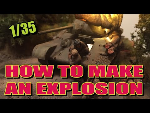 HOW-TO MAKE: A Realistic Explosion Using a LED Light. Scale 1/35.