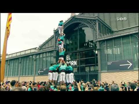 Castellers de Vilafranca  pd7f Diada Nacional Catalunya El Born  2015 PTV